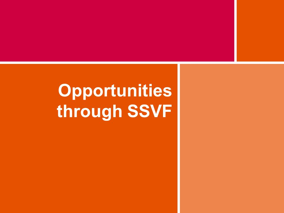 Opportunities through SSVF