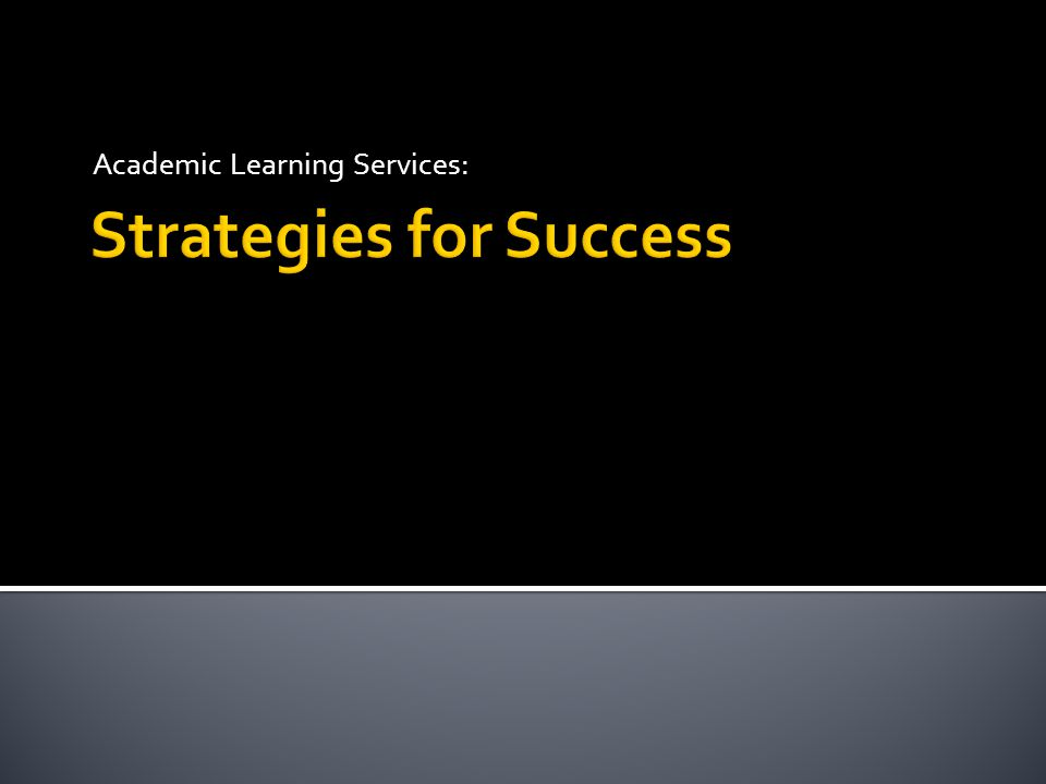 Academic Learning Services:
