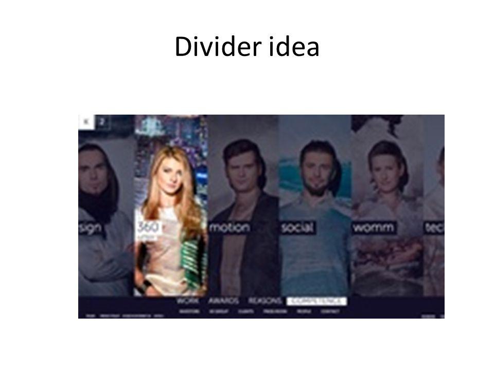 Divider idea