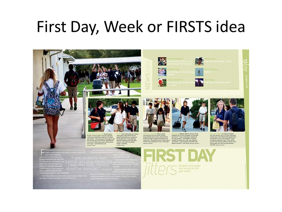 First Day, Week or FIRSTS idea