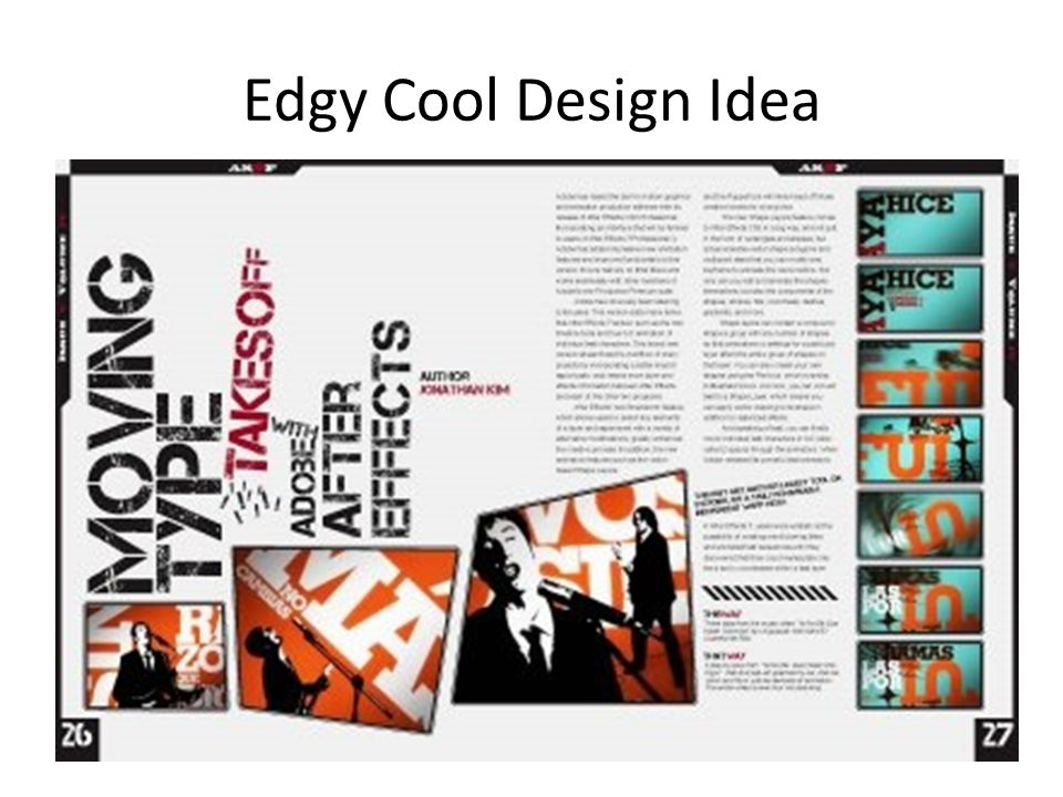 Edgy Cool Design Idea