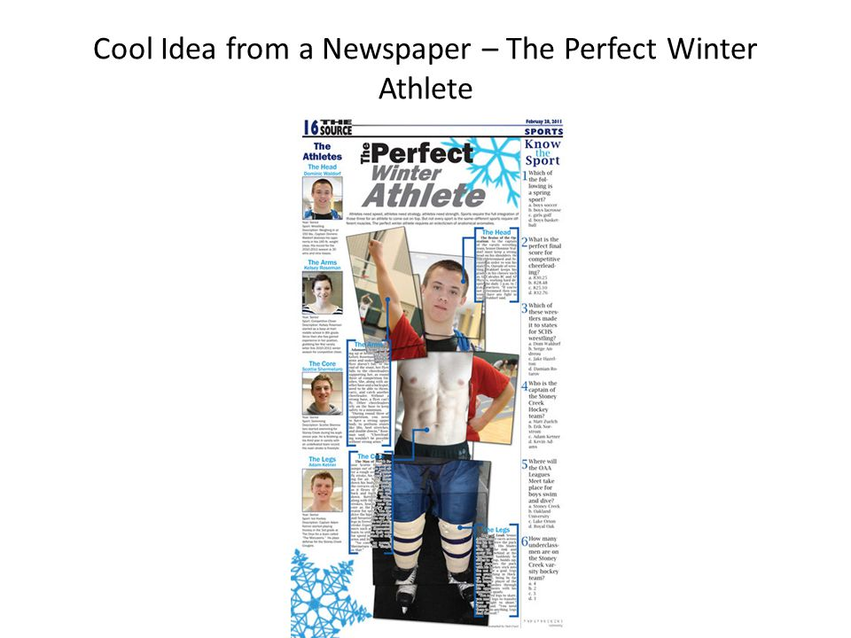 Cool Idea from a Newspaper – The Perfect Winter Athlete