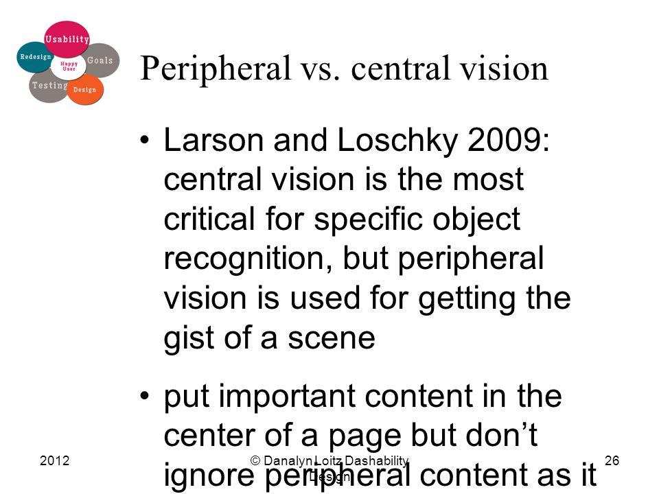 Peripheral vs.
