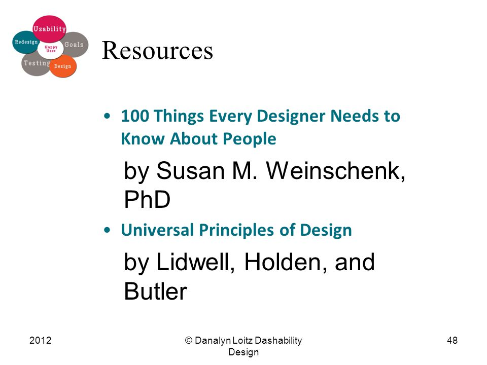 Resources 100 Things Every Designer Needs to Know About People by Susan M.