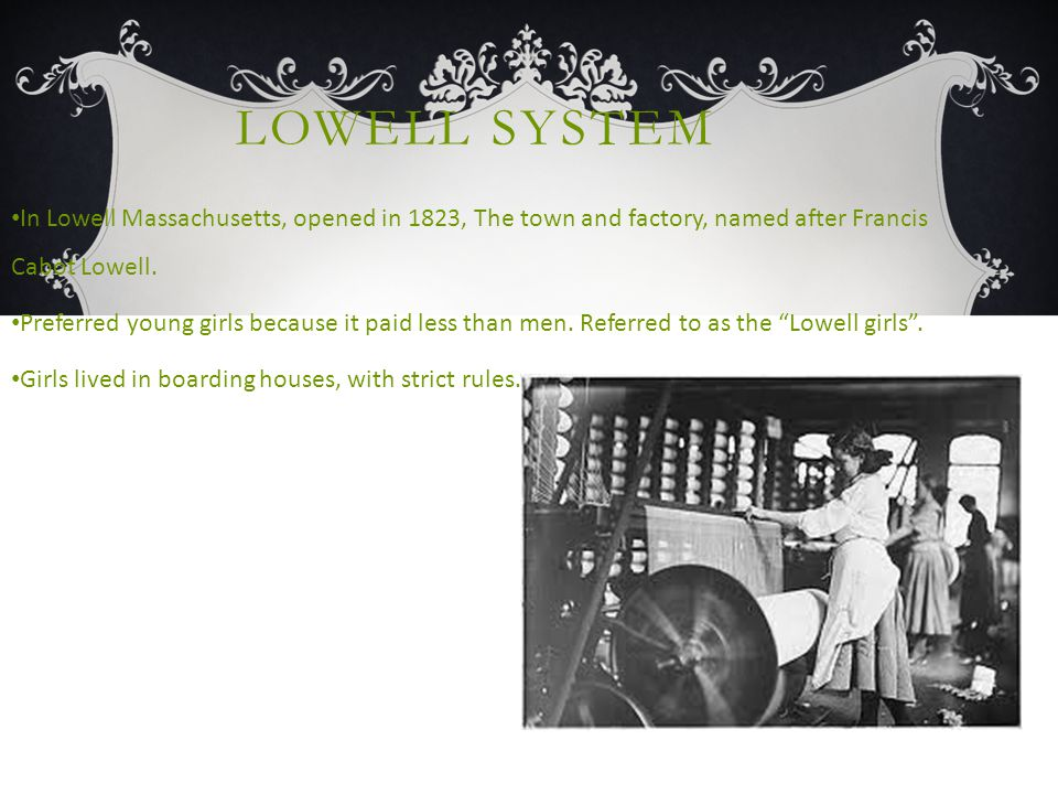 LOWELL CONTINUED.....