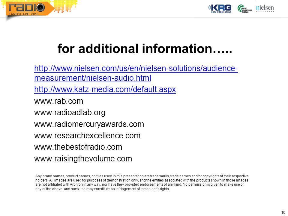 10 LANDSCAPE 2013 for additional information…..