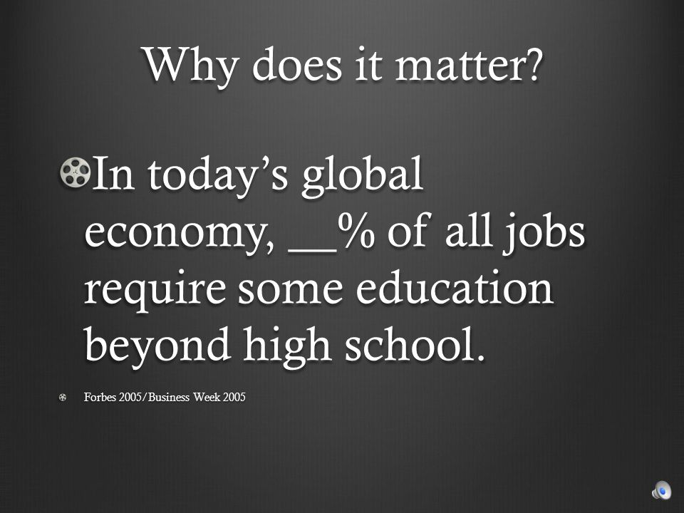 Why does it matter .