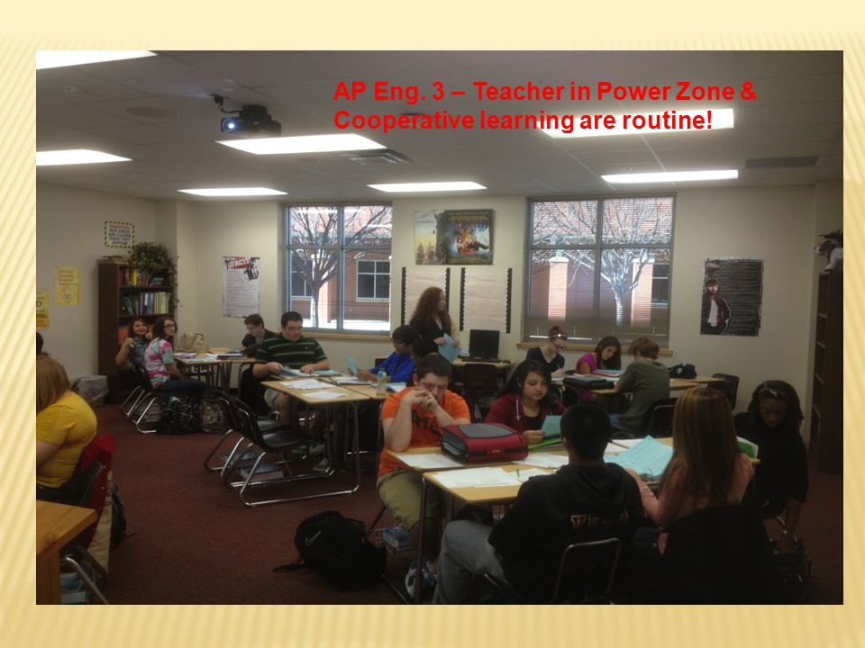 AP Eng. 3 – Teacher in Power Zone & Cooperative learning are routine!