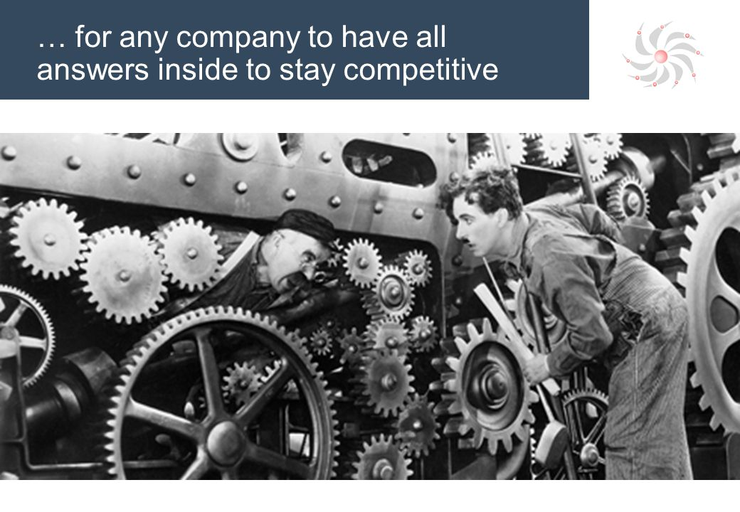 … for any company to have all answers inside to stay competitive