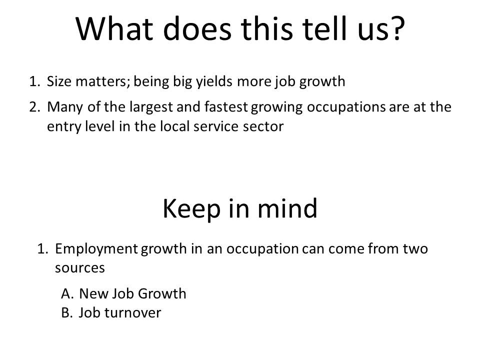 InnovationIntroductionGrowthMaturityDecline Industry Reinvented New Growth Time Growth Industry Life Cycle Occupational growth driven primarily by New Jobs Occupational growth driven primarily by Job Turnover Occupational growth driven primarily by New Jobs Industries that don't reinvent themselves