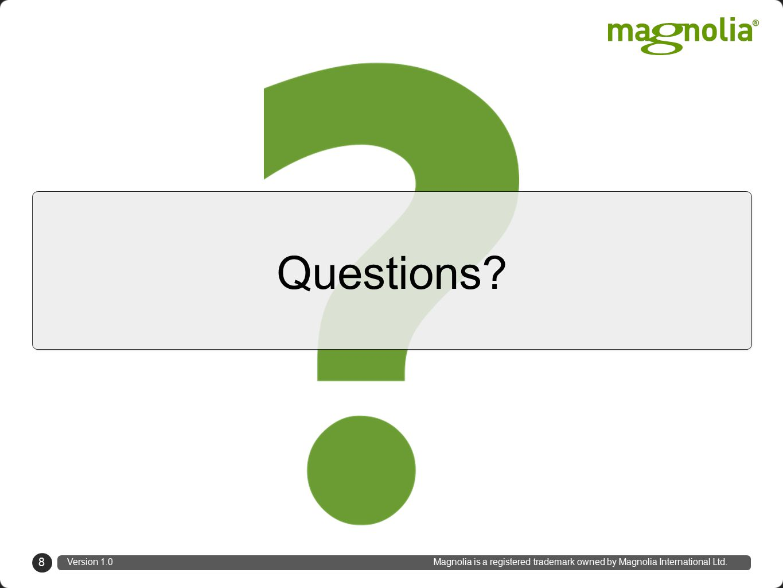 September 5 th, 2012 at #mconf12 natascha.desmarais@magnolia-cms.com Natascha Desmarais, Trainer & Developer Magnolia International Ltd.