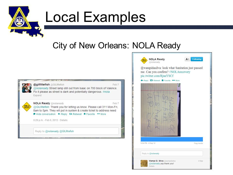 Local Examples City of New Orleans: NOLA Ready