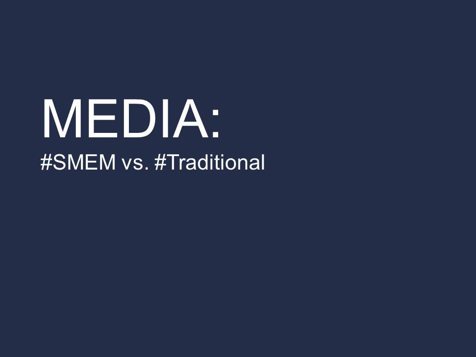 MEDIA: #SMEM vs. #Traditional