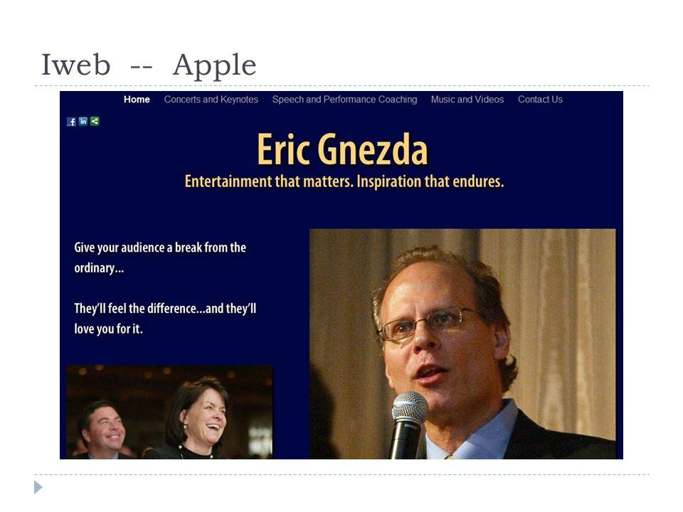 Iweb -- Apple
