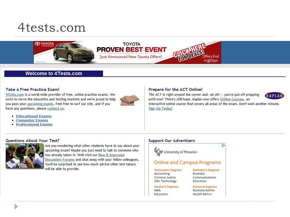 4tests.com  4test.com