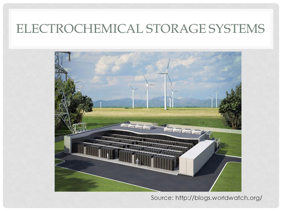 ELECTROCHEMICAL STORAGE SYSTEMS Source: http://blogs.worldwatch.org/