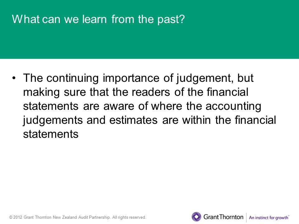 © 2012 Grant Thornton New Zealand Audit Partnership.