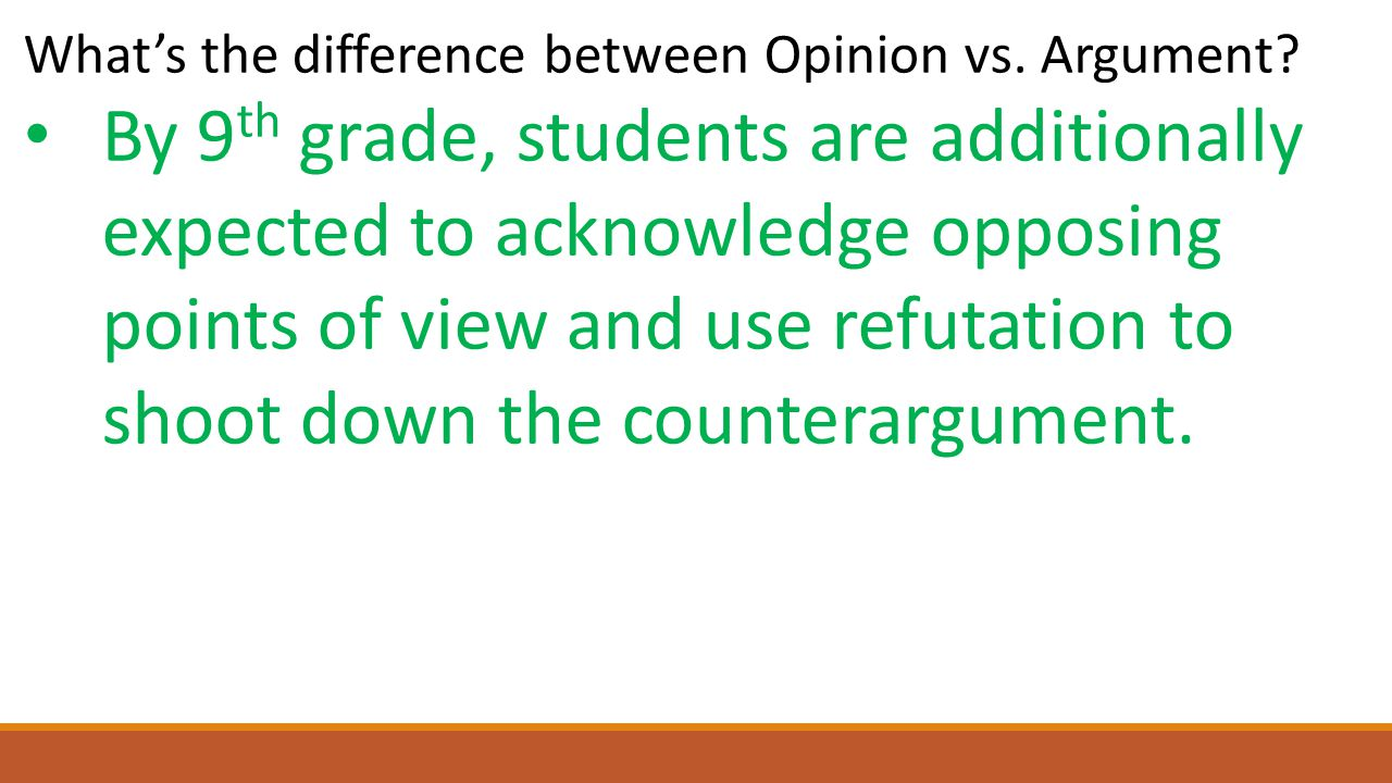 What's the difference between Opinion vs.Argument.
