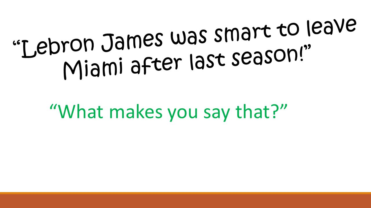 Lebron James was smart to leave Miami after last season! What makes you say that?