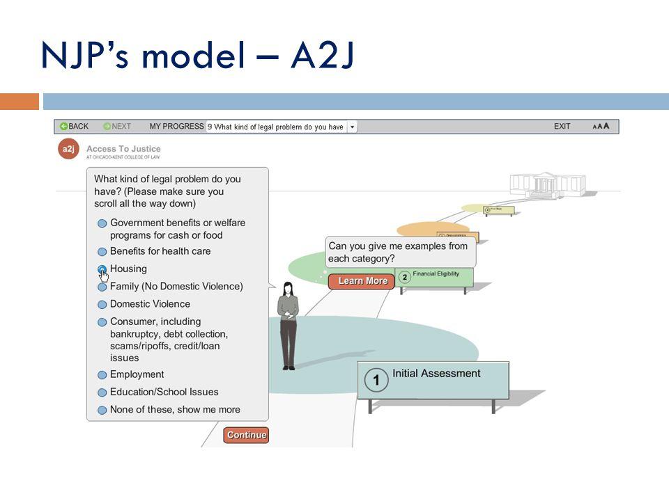 NJP's model – A2J