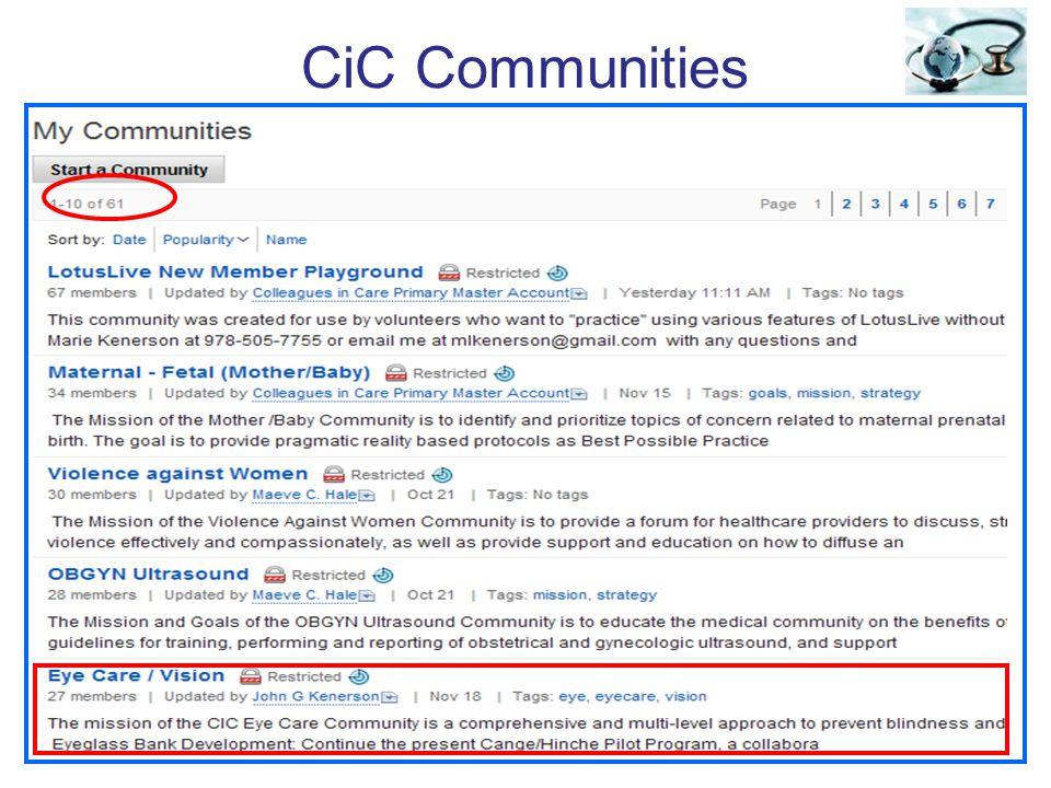 CiC Communities