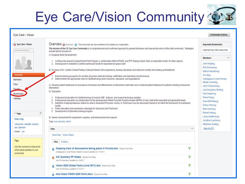 Eye Care/Vision Community