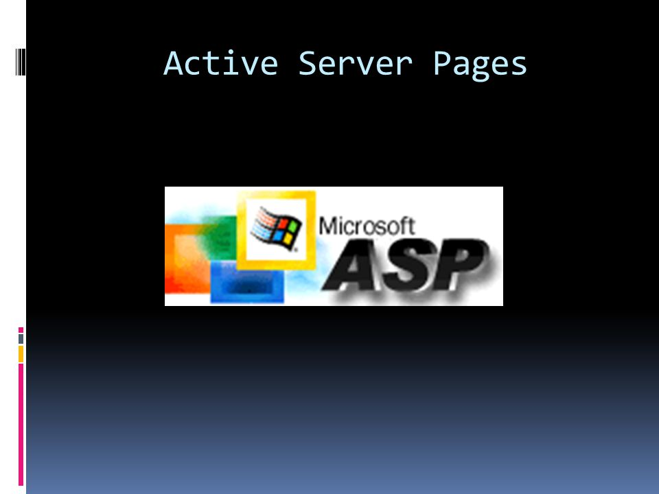 Active Server Pages (ASP)  V1 circa 1996  Active Scripting Pages : top-down script  Call into VB6/COM code to do real work  You might remember these oldies but goodies:  Request object  Response object  Session object  Server object  Application object  ObjectContext object  ASPError object