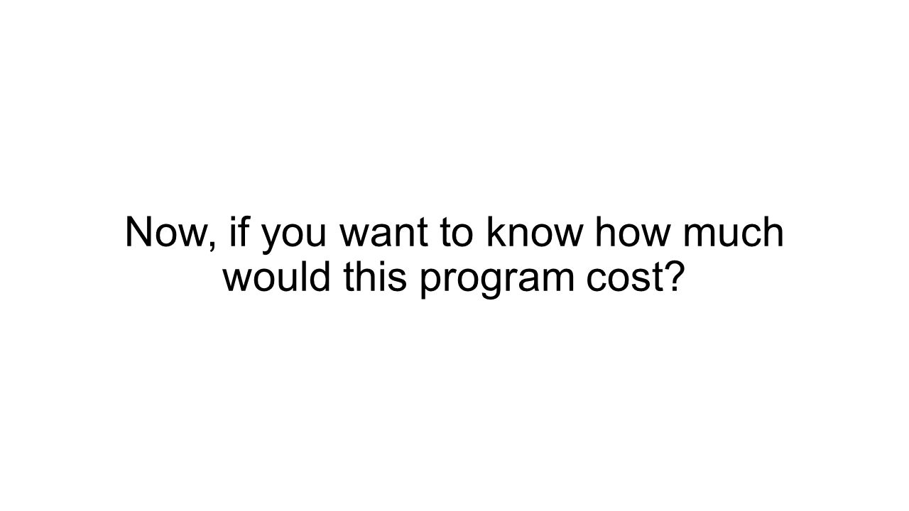 Now, if you want to know how much would this program cost