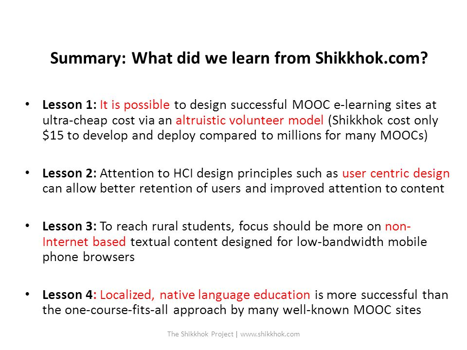 Summary: What did we learn from Shikkhok.com.