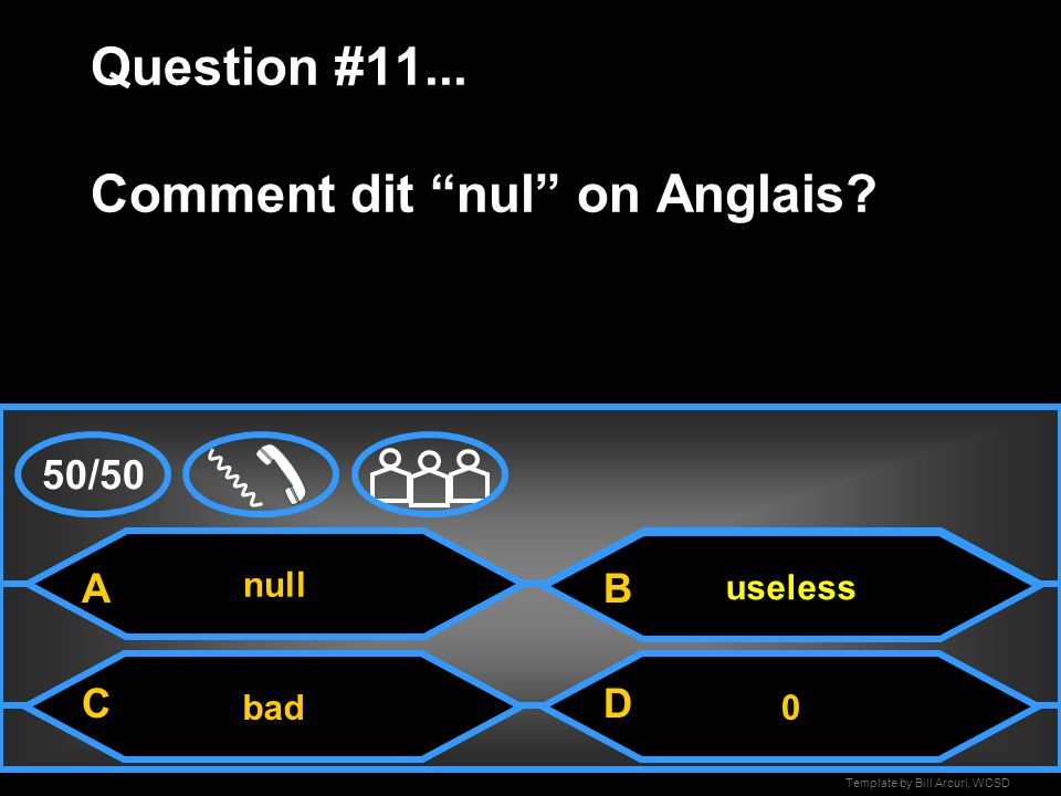 Template by Bill Arcuri, WCSD Oui/ non Question #10...