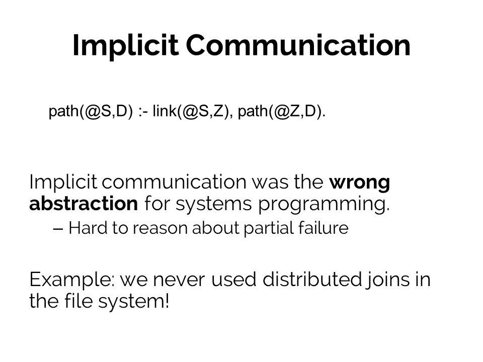 Coordination mechanisms Bob Carol q(Bob,1)@1 e(1).