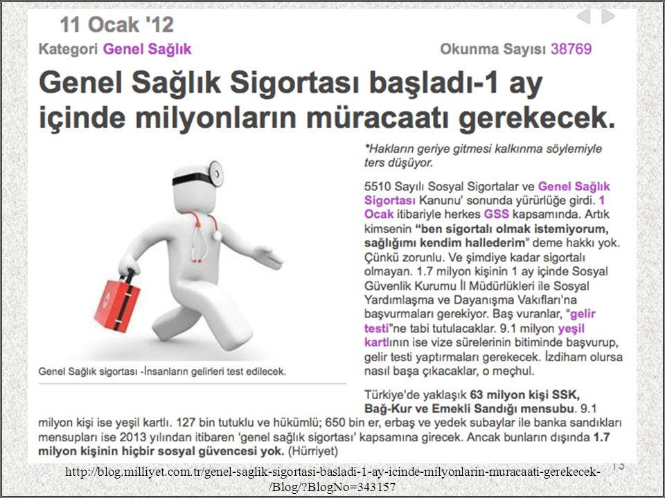 13 http://blog.milliyet.com.tr/genel-saglik-sigortasi-basladi-1-ay-icinde-milyonlarin-muracaati-gerekecek- /Blog/?BlogNo=343157