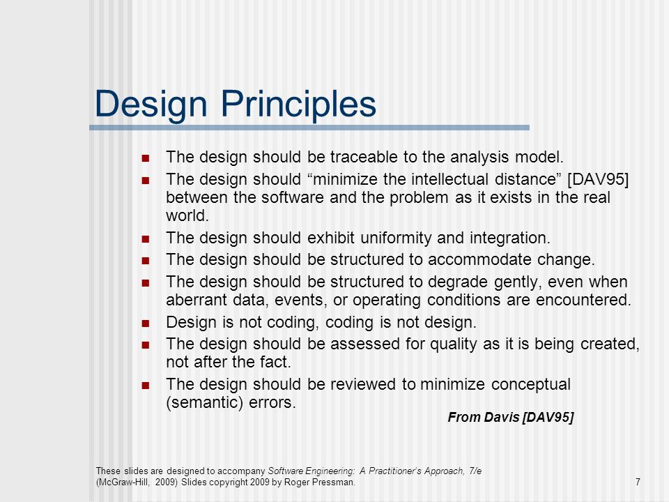 These slides are designed to accompany Software Engineering: A Practitioner's Approach, 7/e (McGraw-Hill, 2009) Slides copyright 2009 by Roger Pressma