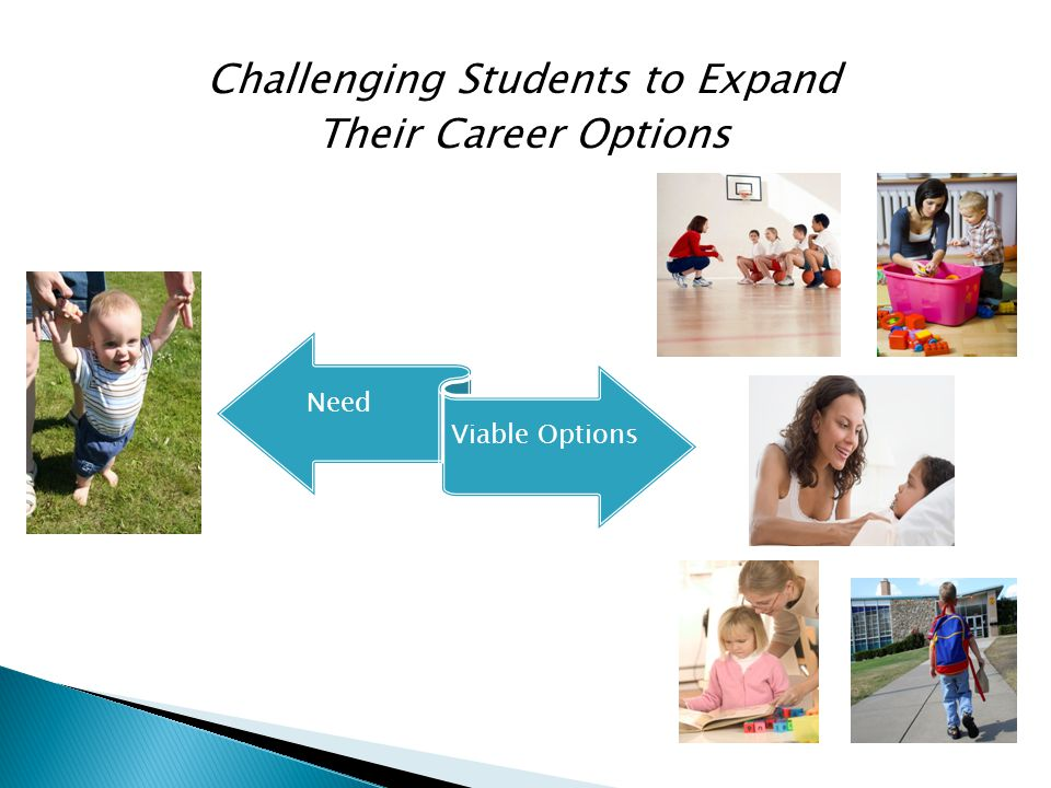 Challenging Students to Expand Their Career Options Need Viable Options