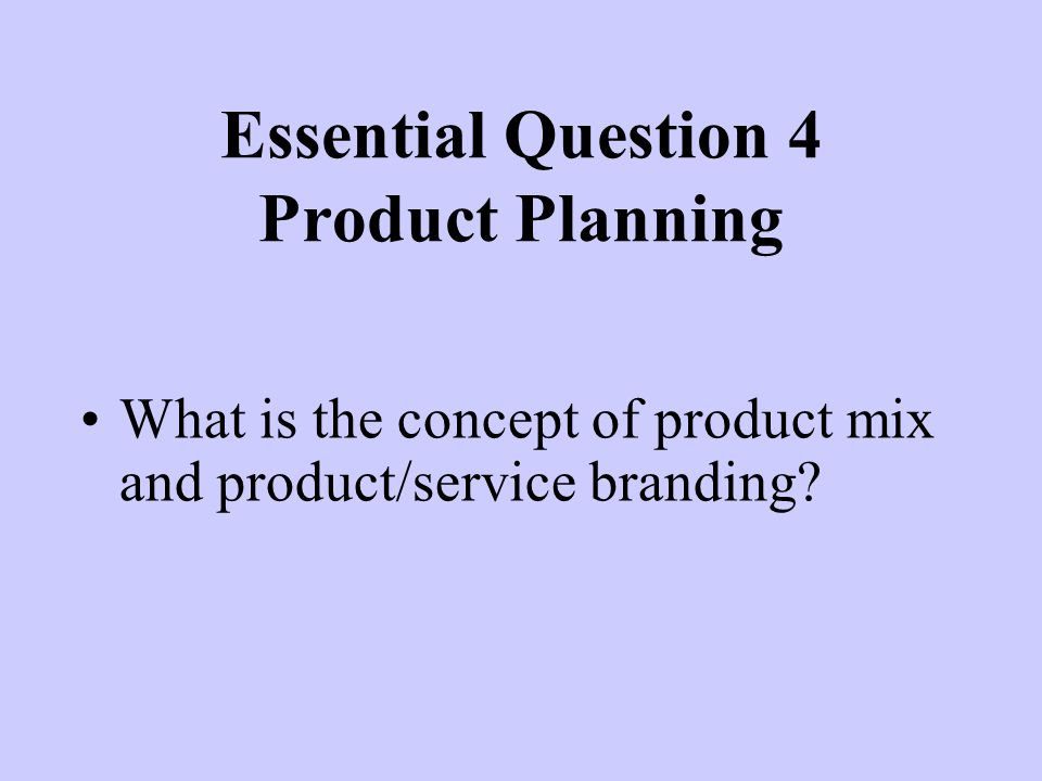What is the concept of product mix and product/service branding.