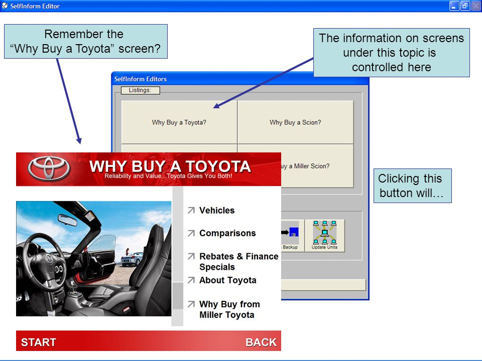 Remember the Why Buy a Toyota screen.
