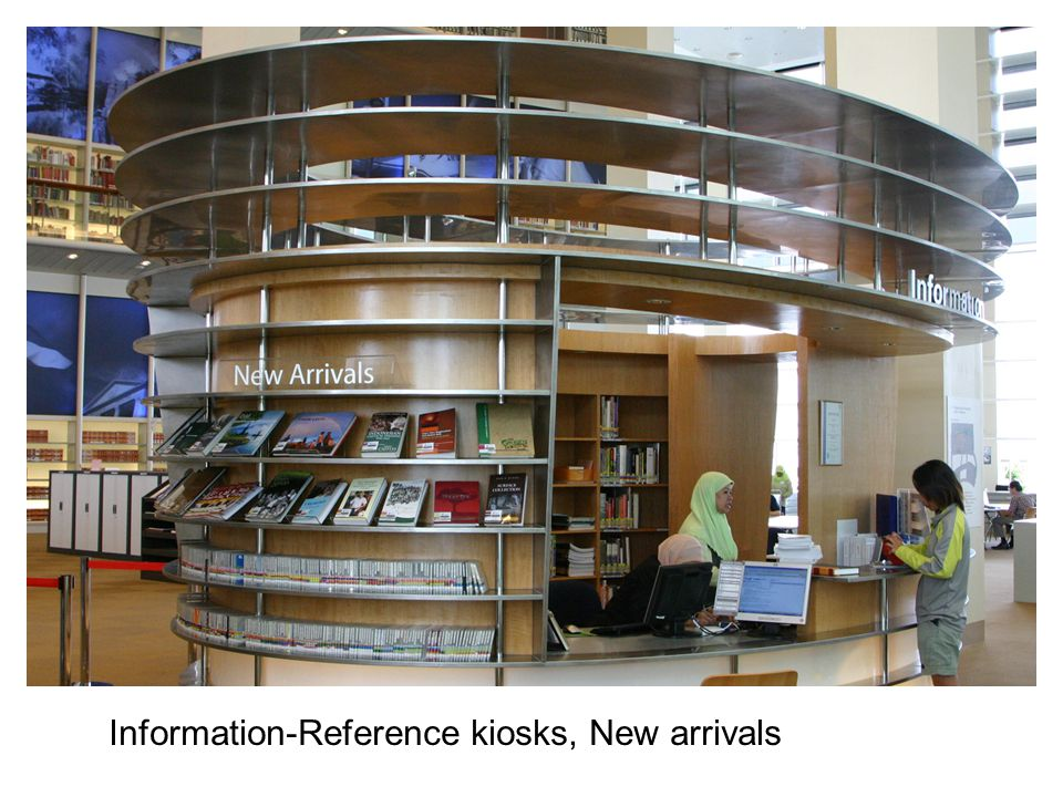 Information-Reference kiosks, New arrivals