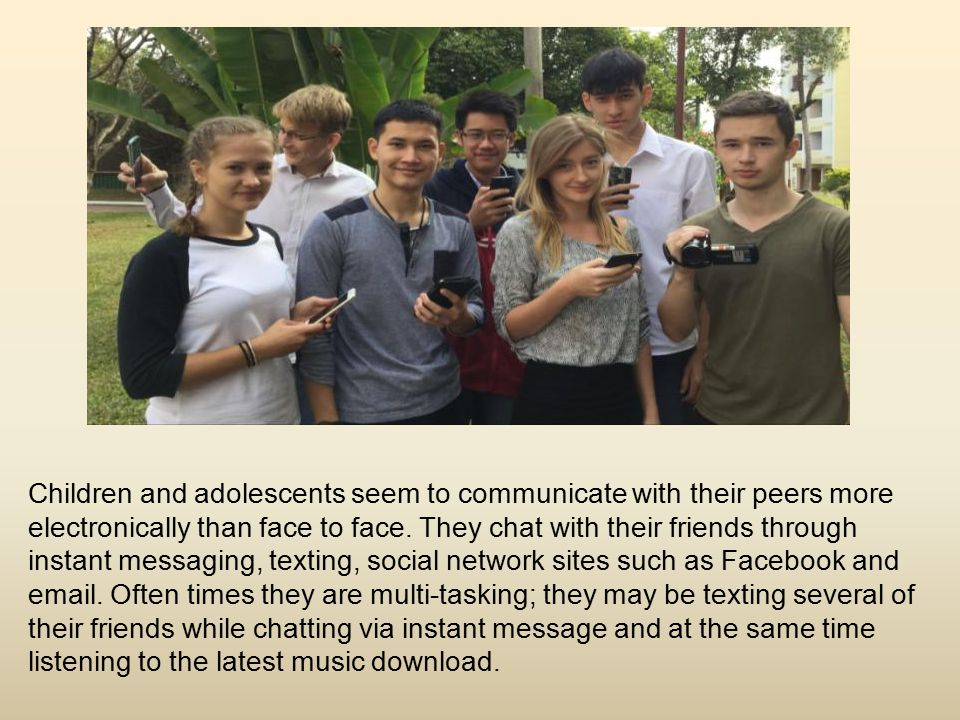 Modern means of communication Nowadays we cannot imagine human contact without modern technology devices such as mobile phones, smartphones, i-Pods, i-Pads, Tablets, laptops and so on.