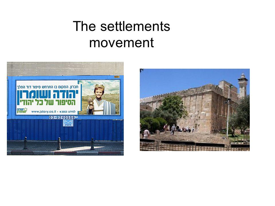 The settlements movement
