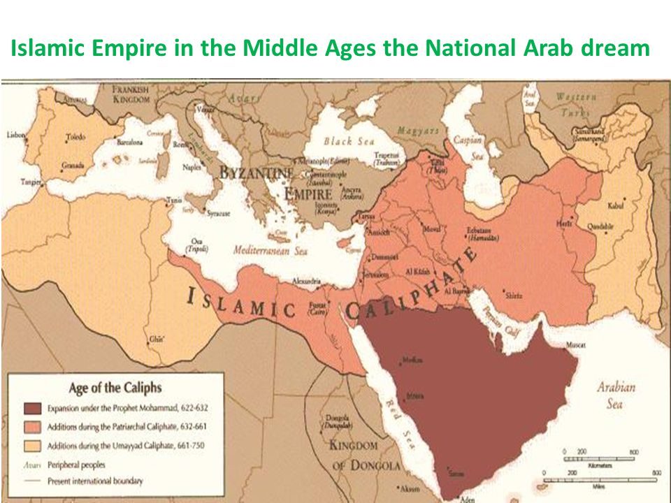 Islamic Empire in the Middle Ages the National Arab dream