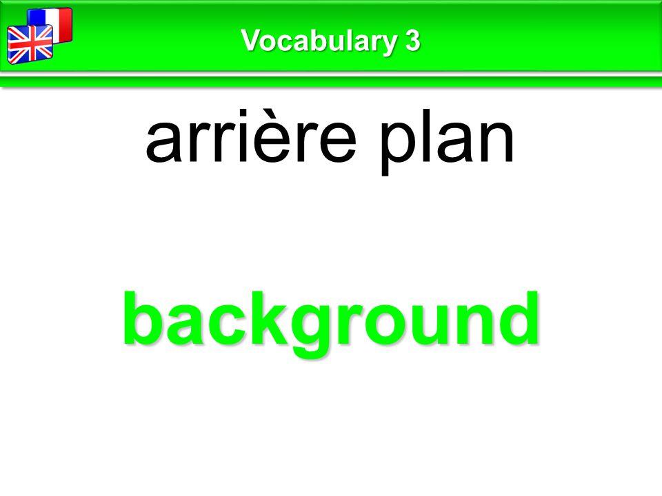 at the center au centre Vocabulary 3