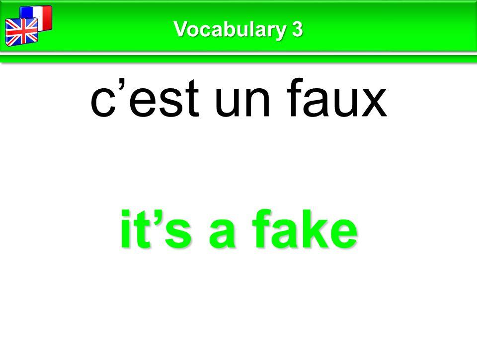 luck / bad luck chance / pas de chance Vocabulary 3
