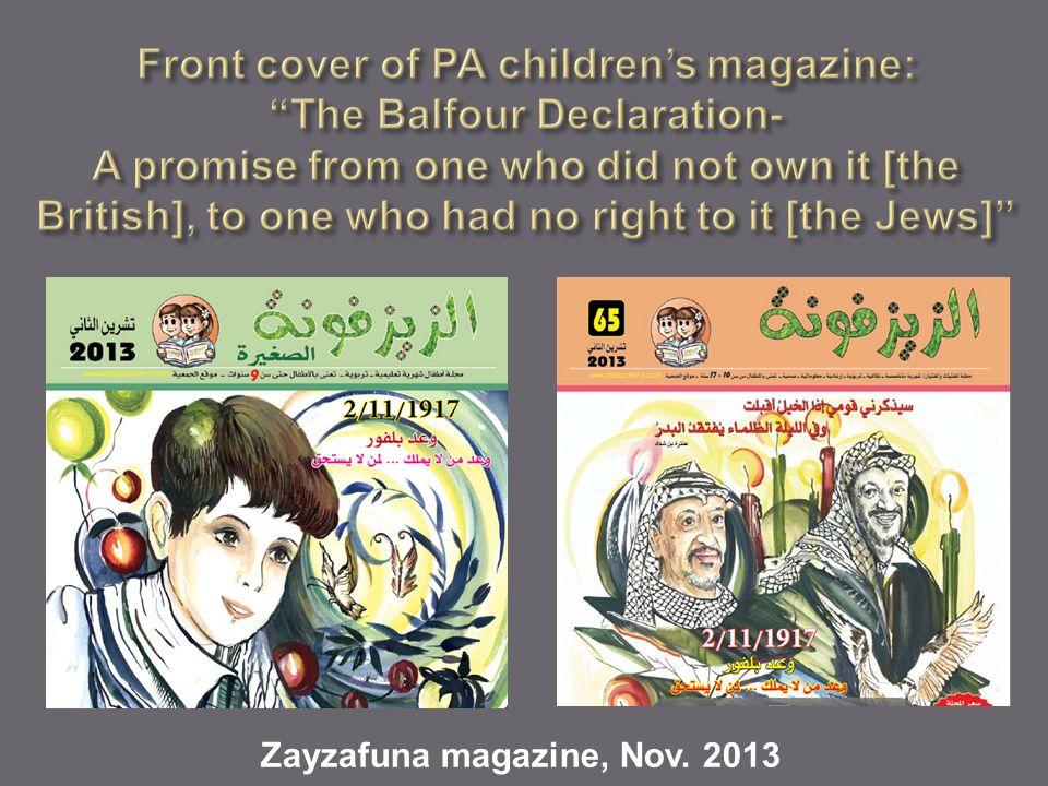 Zayzafuna magazine, Nov. 2013