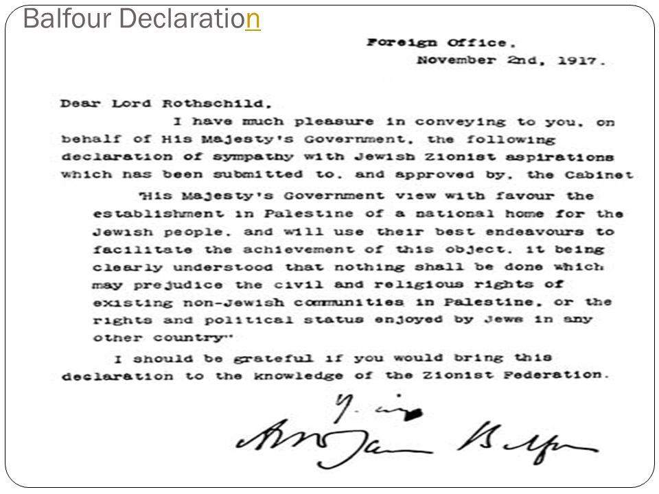 Balfour Declarationn