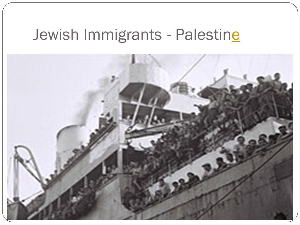 Jewish Immigrants - Palestinee