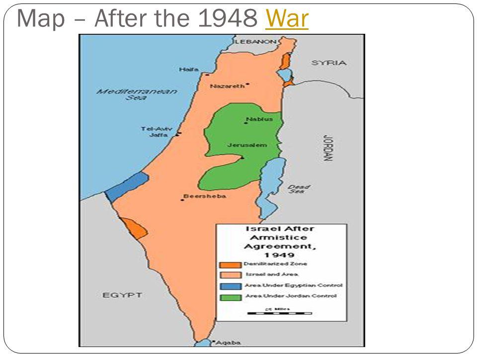 Map – After the 1948 WarWar