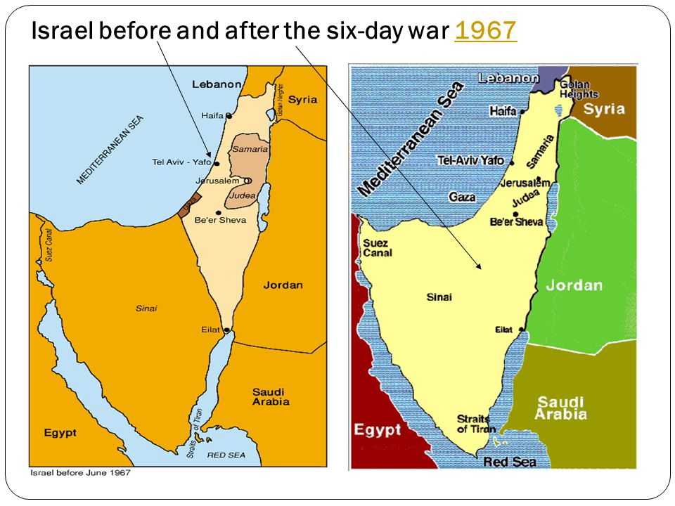 Israel before and after the six-day war 19671967