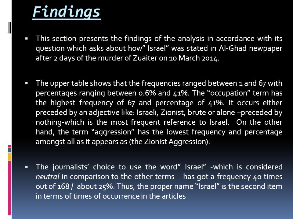 Limitations of the Study The content analysis of this study is limited to the News Front Page and Local News section of 12 th March 2014 release of Al-Ghad newspaper.