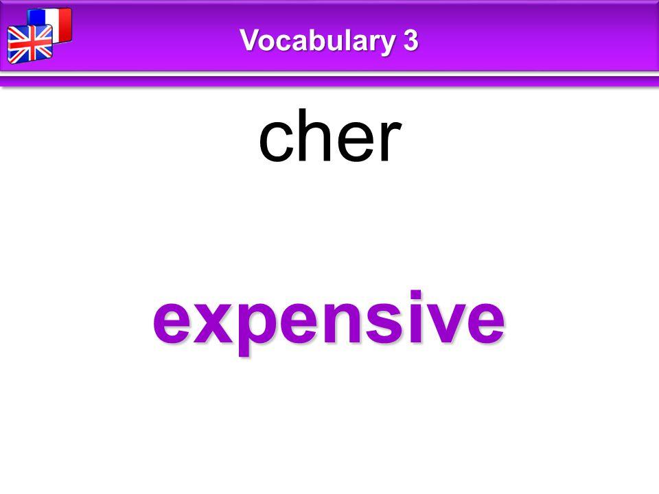 expensive cher Vocabulary 3