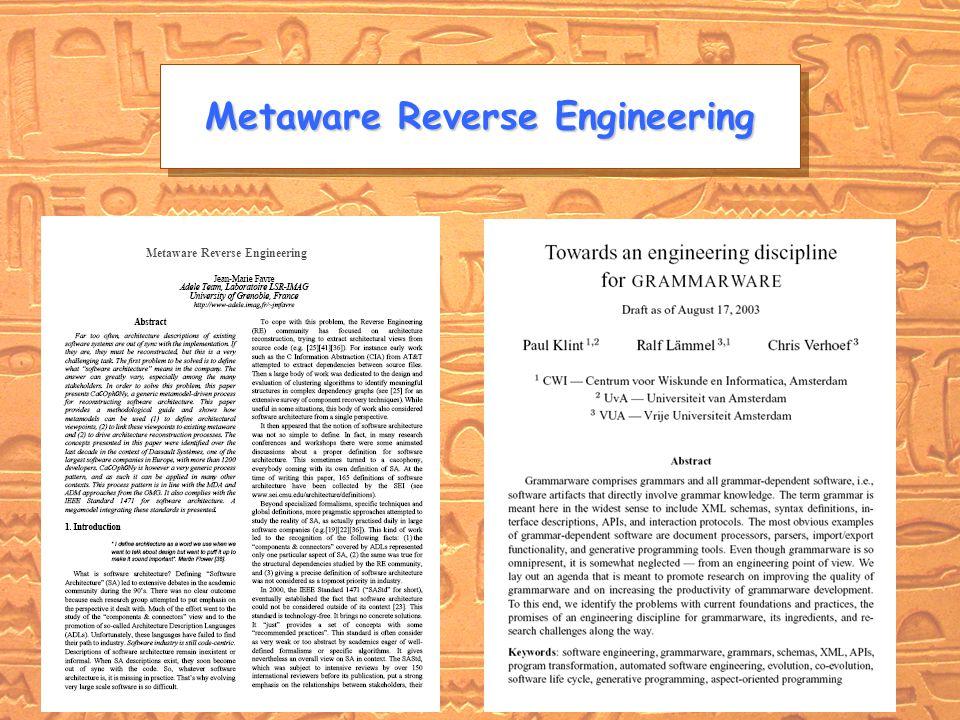 http://www-adele.imag.fr/~jmfarvreWCRE DELFT MMIV BC Metaware Reverse Engineering